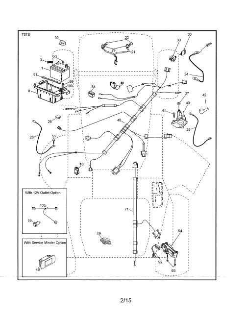 small resolution of husky mower wiring harness kit