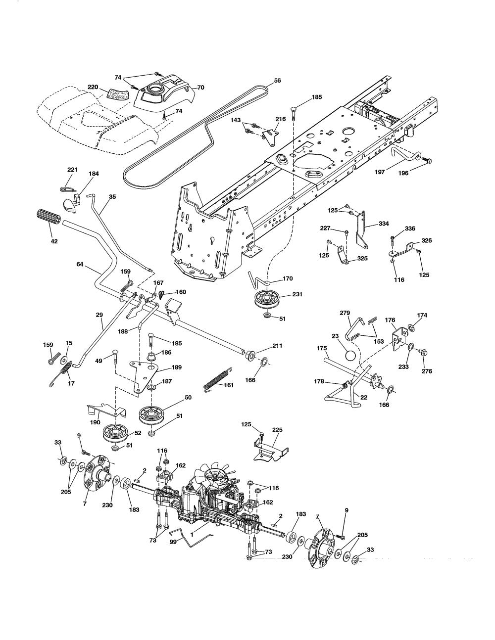 medium resolution of husqvarna lgt2654 96043018300 drive diagram