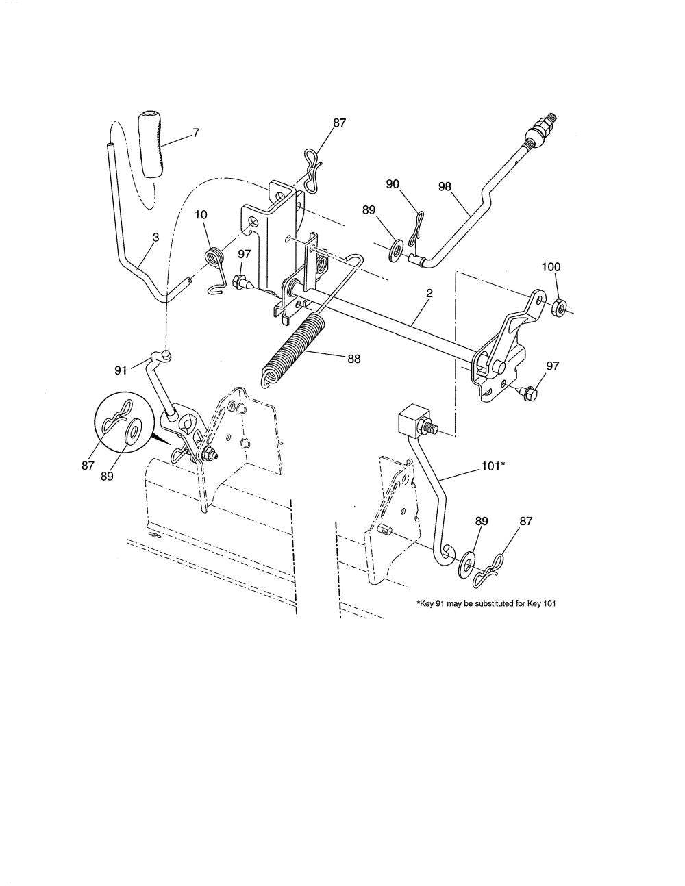 medium resolution of husqvarna model yth22v46 96043018101 lawn tractor genuine parts rh searspartsdirect com husqvarna riding mower wiring diagram