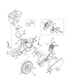 mtd model 21ab45m8799 rear tine gas tiller genuine parts [ 2550 x 3300 Pixel ]