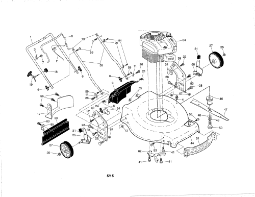 small resolution of poulan 96142012601 engine housing handle diagram