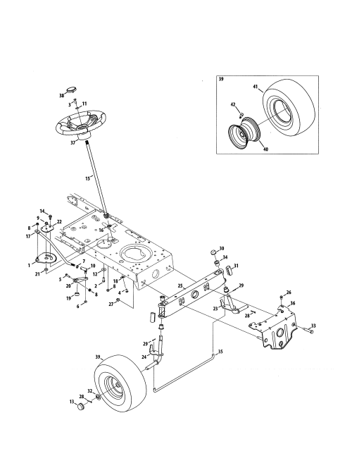 small resolution of mtd 13a878xt099 steering wheel assembly diagram