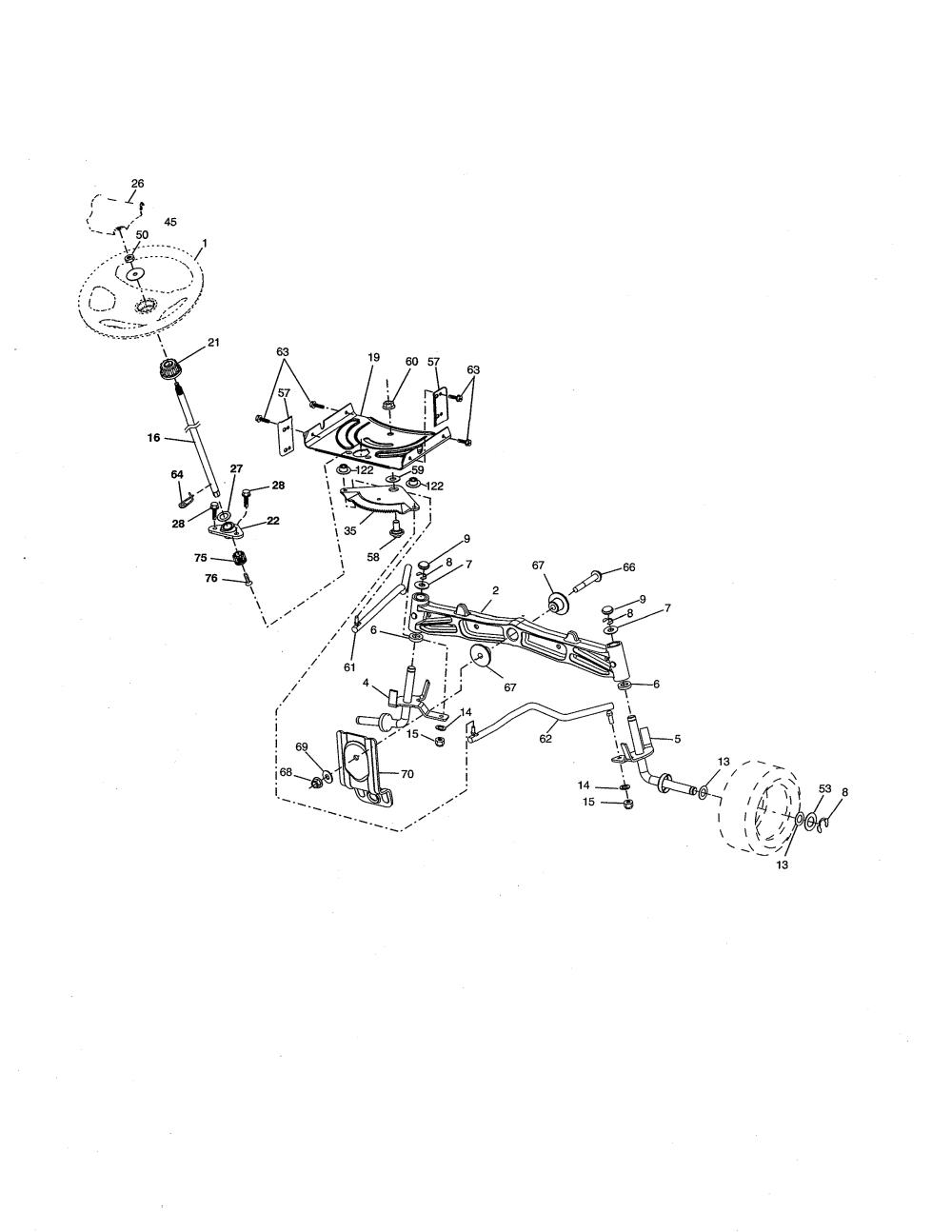 medium resolution of husqvarna yta18542 96045005500 steering diagram