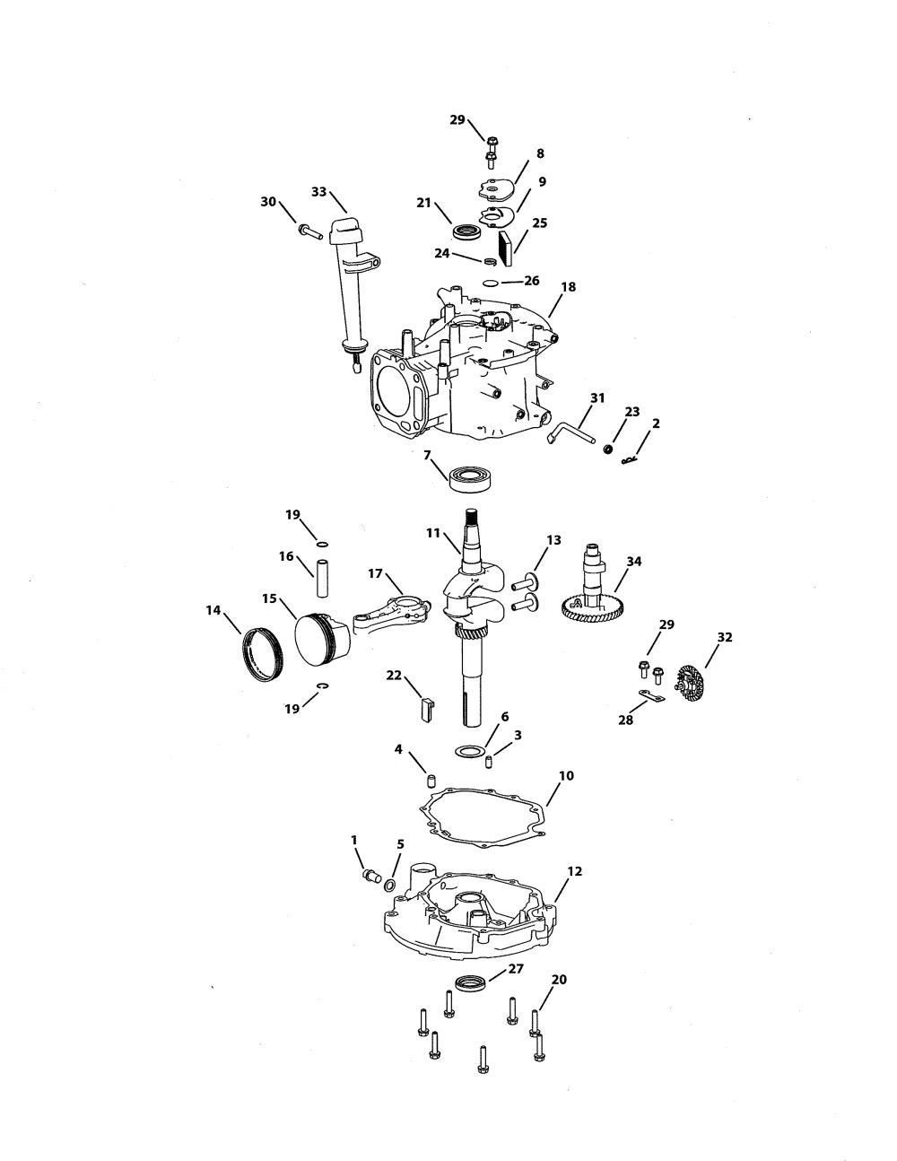 medium resolution of mtd 5x65mu short block assembly 951 05532 diagram