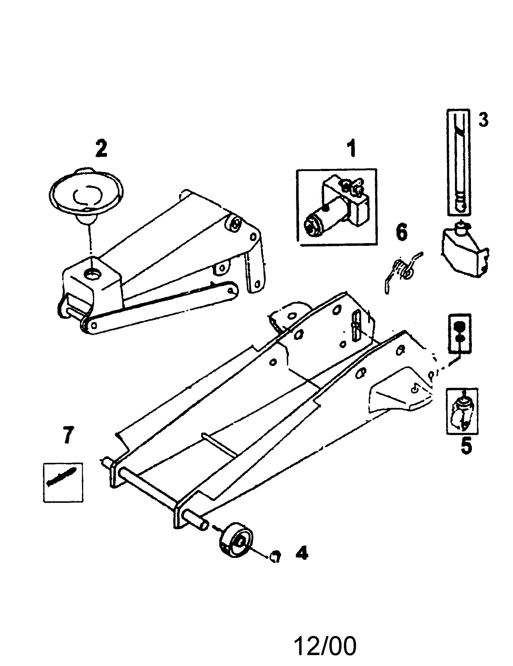 JACK Diagram & Parts List for Model 875501390 Craftsman