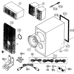 Parts Of A Speaker Diagram Homeline Breaker Box Wiring Speakers And List For Model Nxsw10 Yamaha
