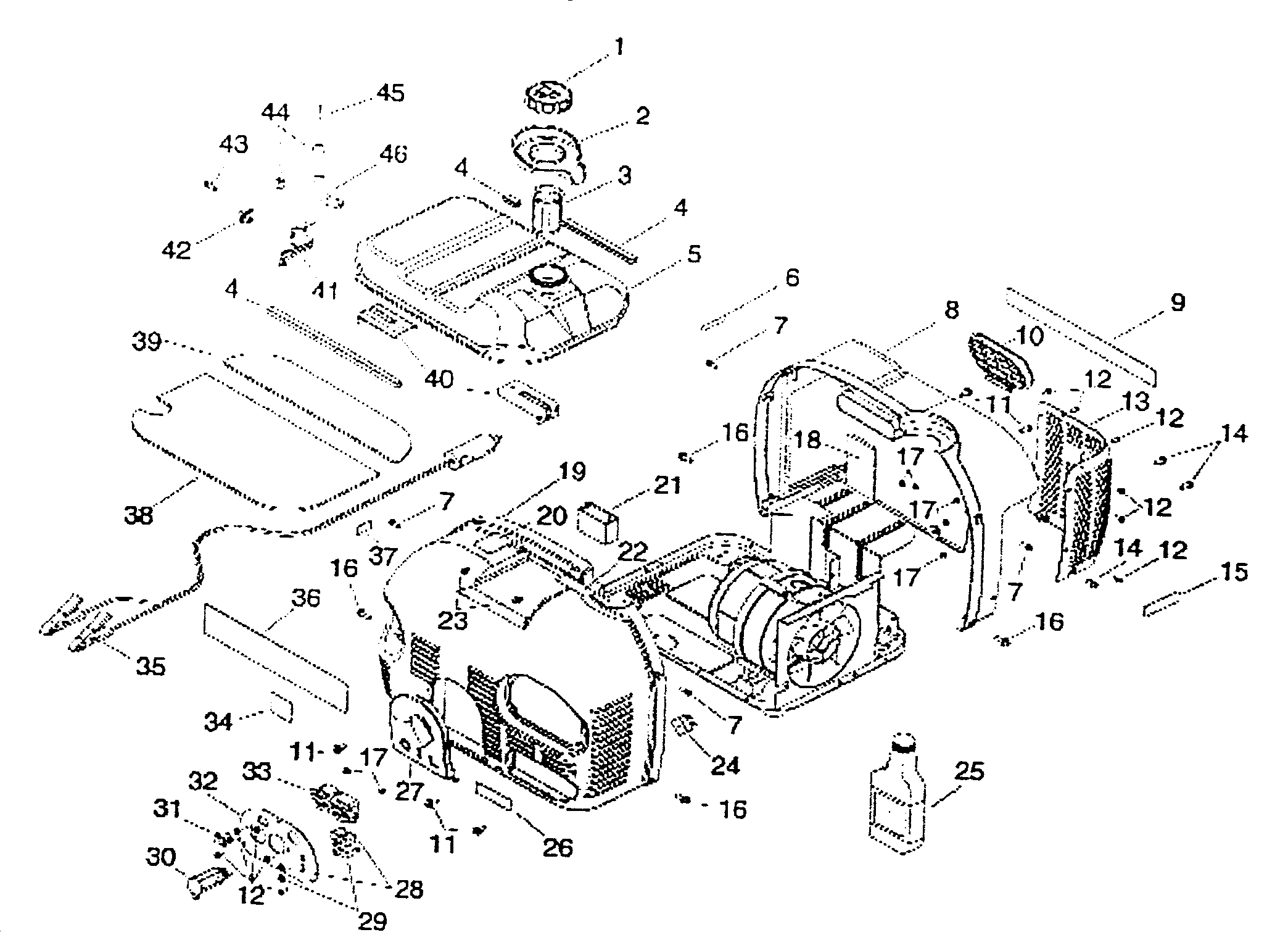 ENCLOSURE EXPLODED VIEW Diagram & Parts List for Model