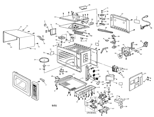 small resolution of looking for panasonic model nn c980b countertop microwave repair cabinet diagram and parts list for panasonic microwaveparts model