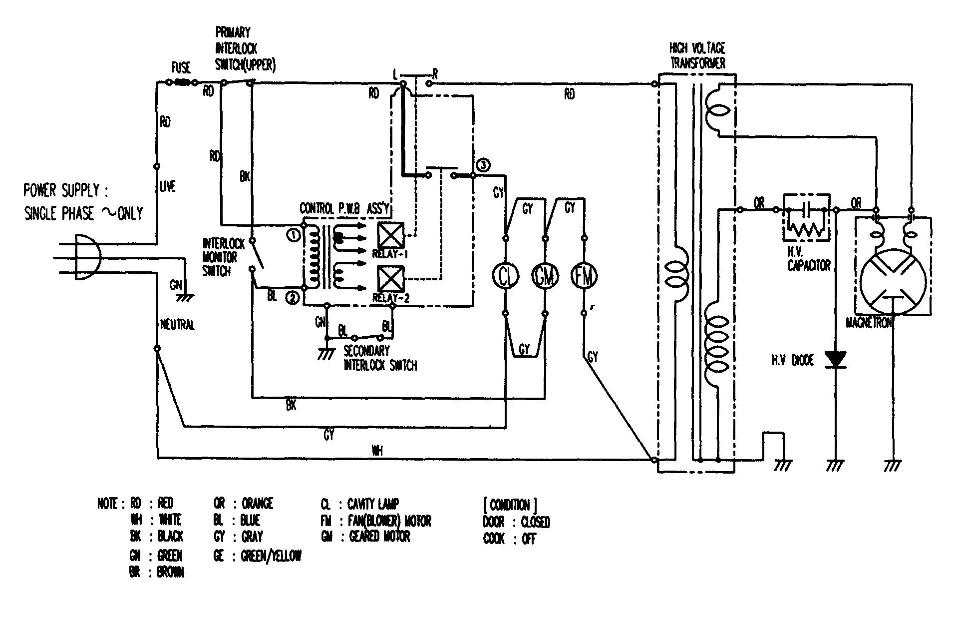 Emerson Microwave Parts