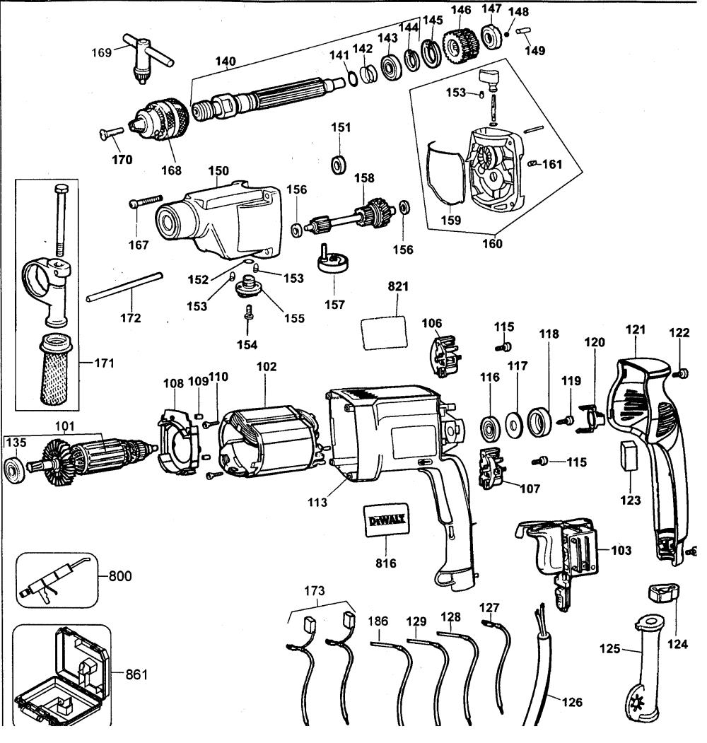 medium resolution of looking for dewalt model dw515kty2 hammer drill repair u0026 replacementdewalt dw515kty2 drill diagram
