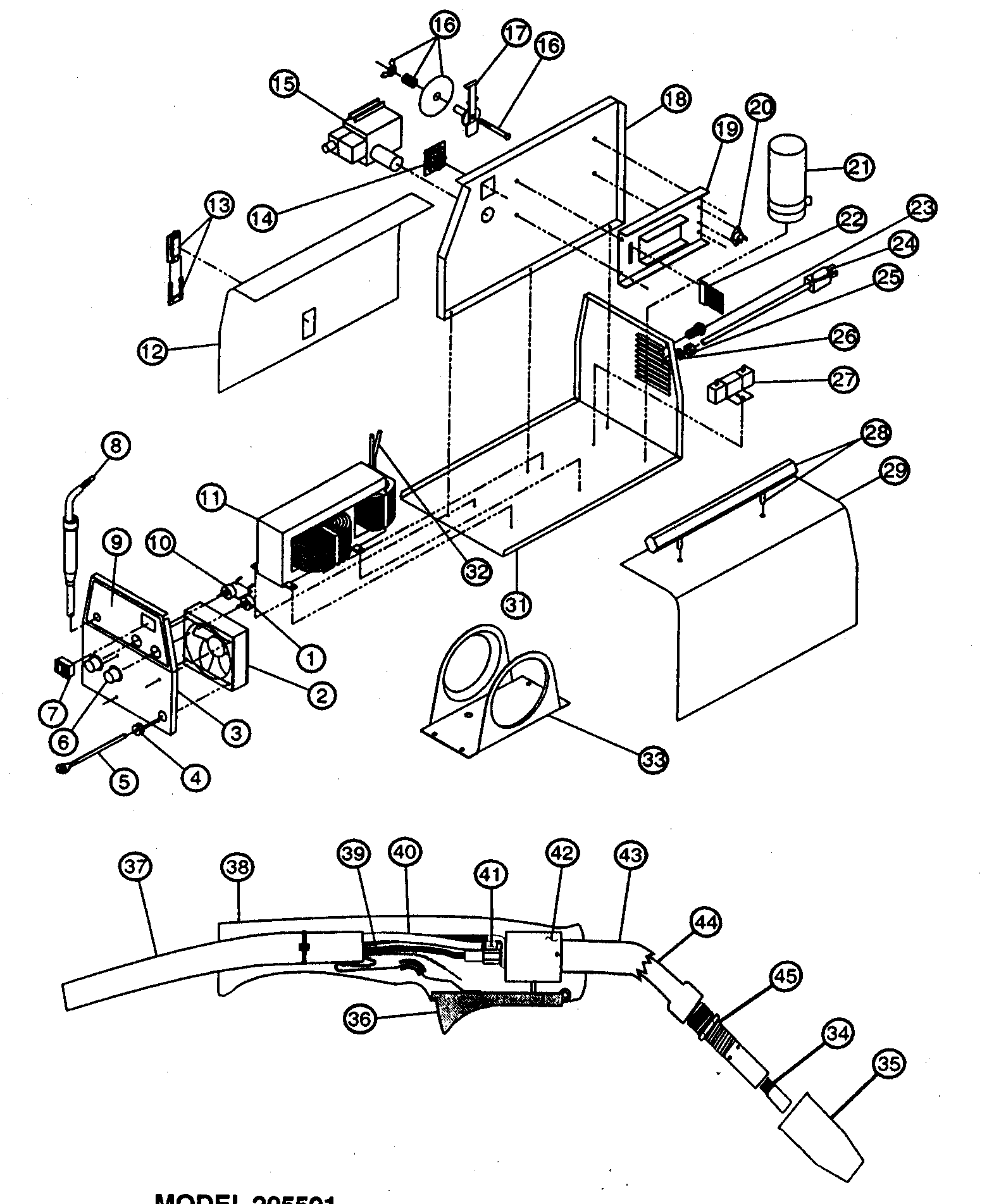 lincoln electric welder parts diagram split load consumer unit wiring craftsman mig model 934205591 sears