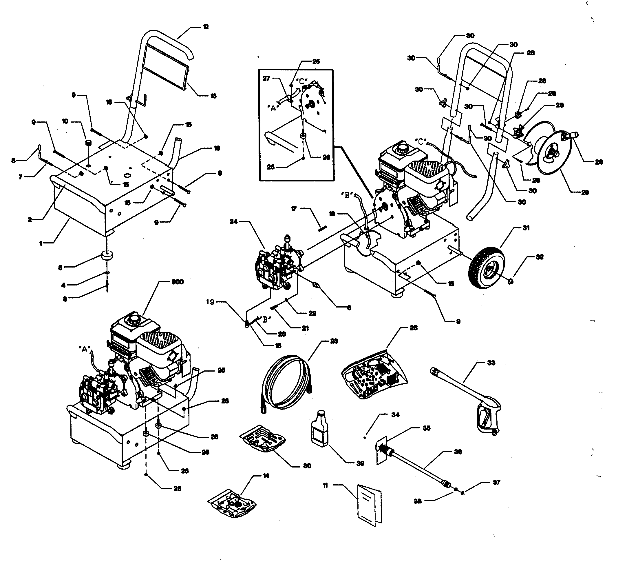 craftsman pressure washer pump parts diagram electrical wire diagrams house wiring model 580767302 sears