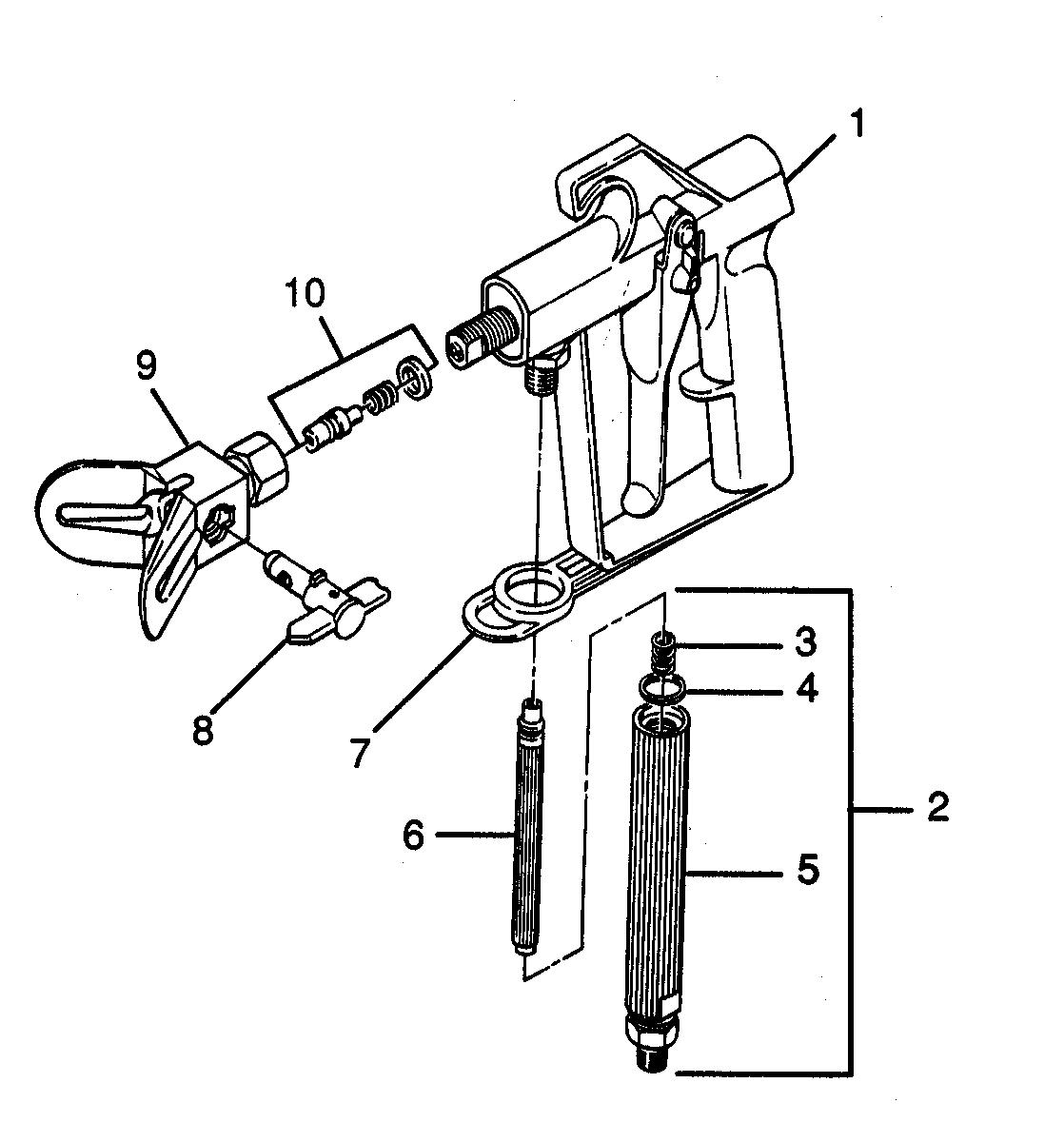 G-06 SPRAY GUN Diagram & Parts List for Model 834 Wagner