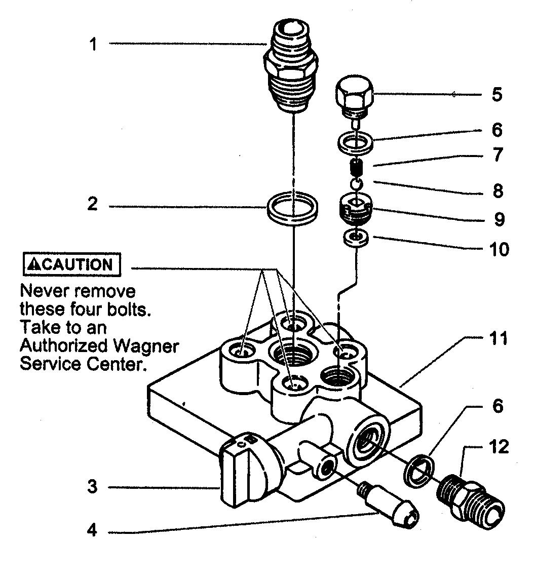 PAINT PUMP ASSY Diagram & Parts List for Model 844 Wagner