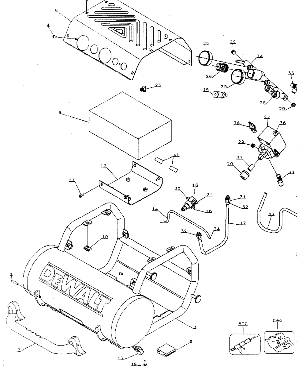 medium resolution of dewalt d55155 compressor diagram