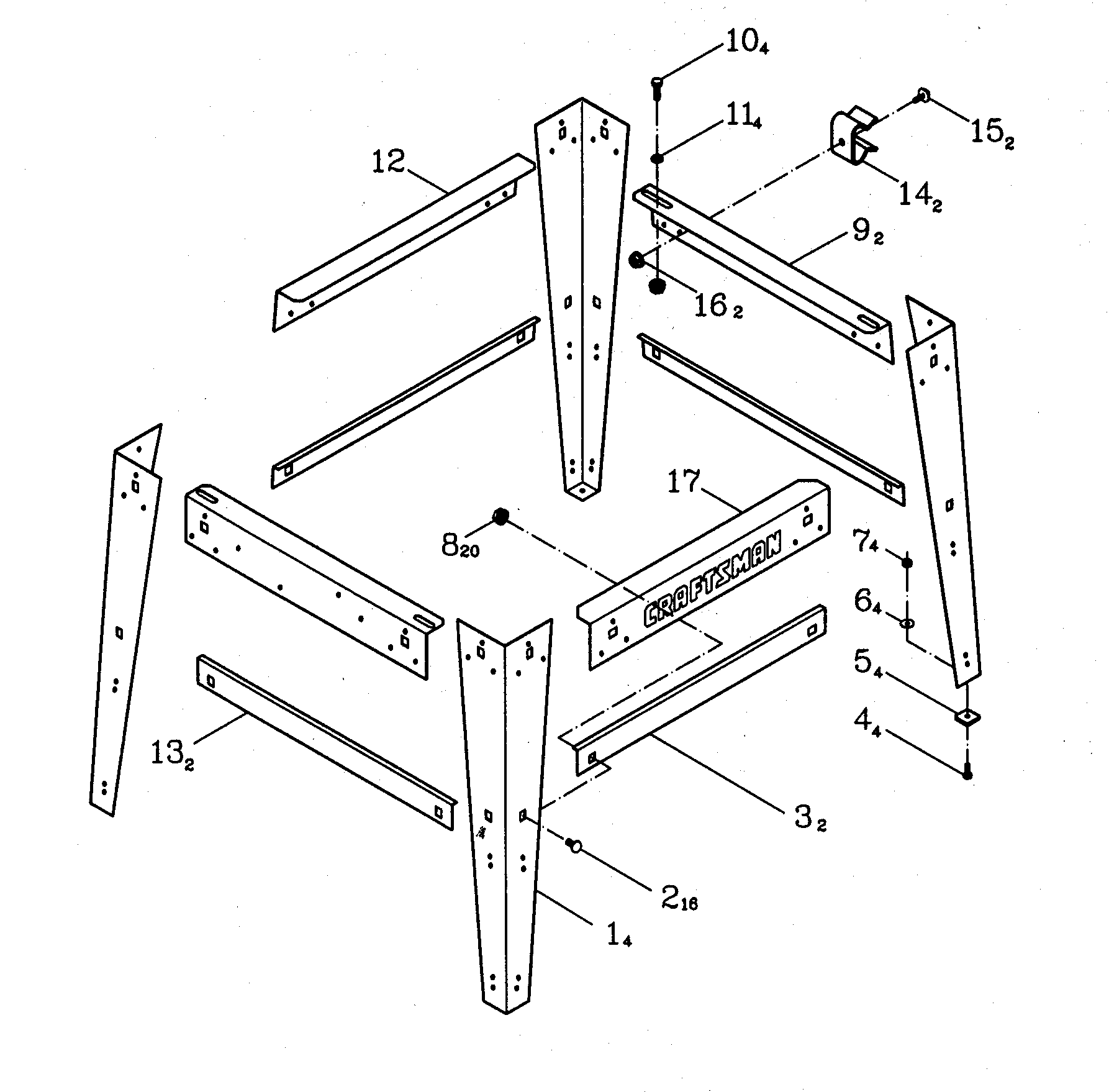 hight resolution of craftsman 137248880 stand diagram