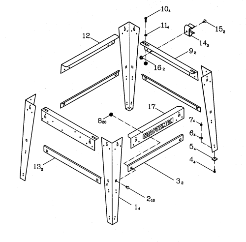 small resolution of craftsman 137248880 stand diagram