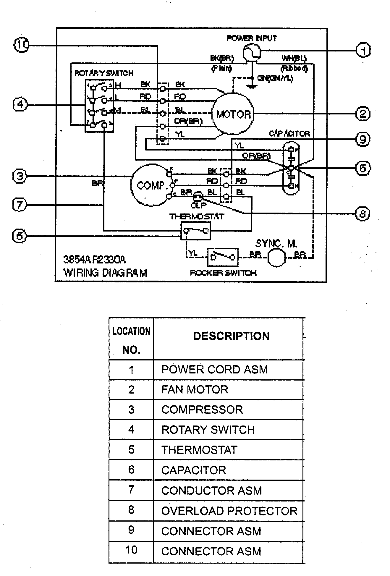 Air Conditioner Rotary Switch Wiring Diagram Taco