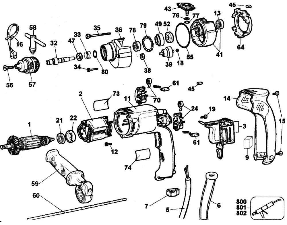 medium resolution of dewalt dw511 type 1 drill diagram