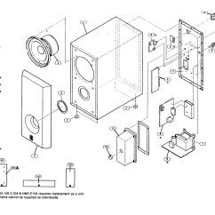 Parts Of A Speaker Diagram Guitar Wiring 2 Pickup 1 Volume Tone Yamaha Model Nsc104 Sears Partsdirect