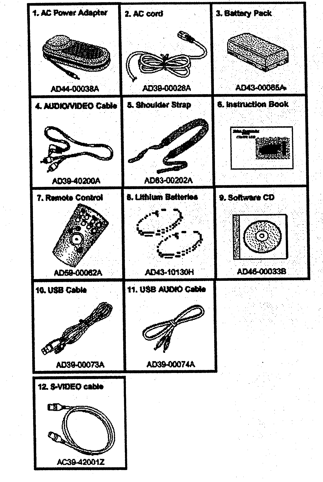 ACCESSORIES Diagram & Parts List for Model scl810 Samsung