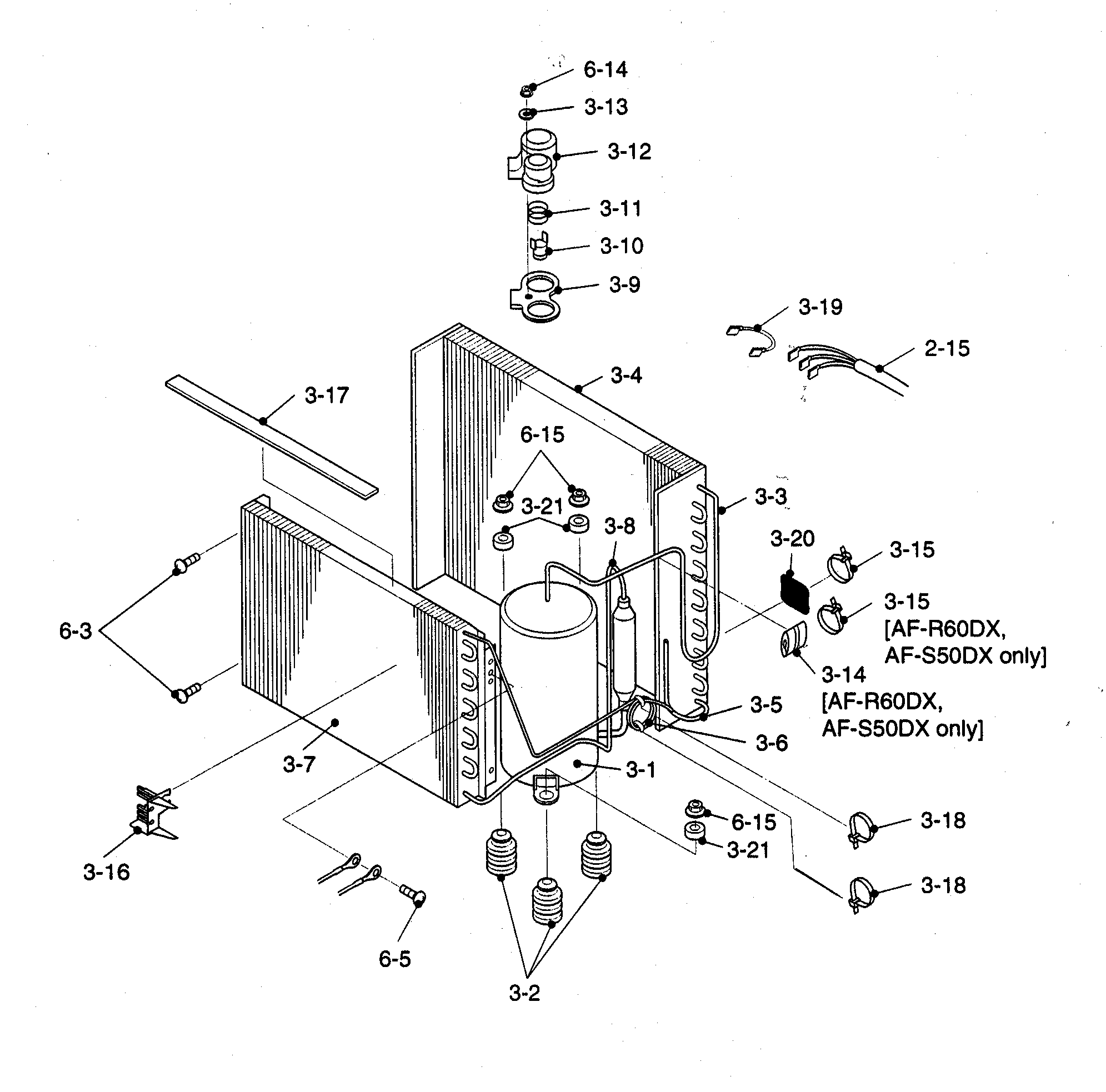 hight resolution of sharp af s60dx cycle parts diagram