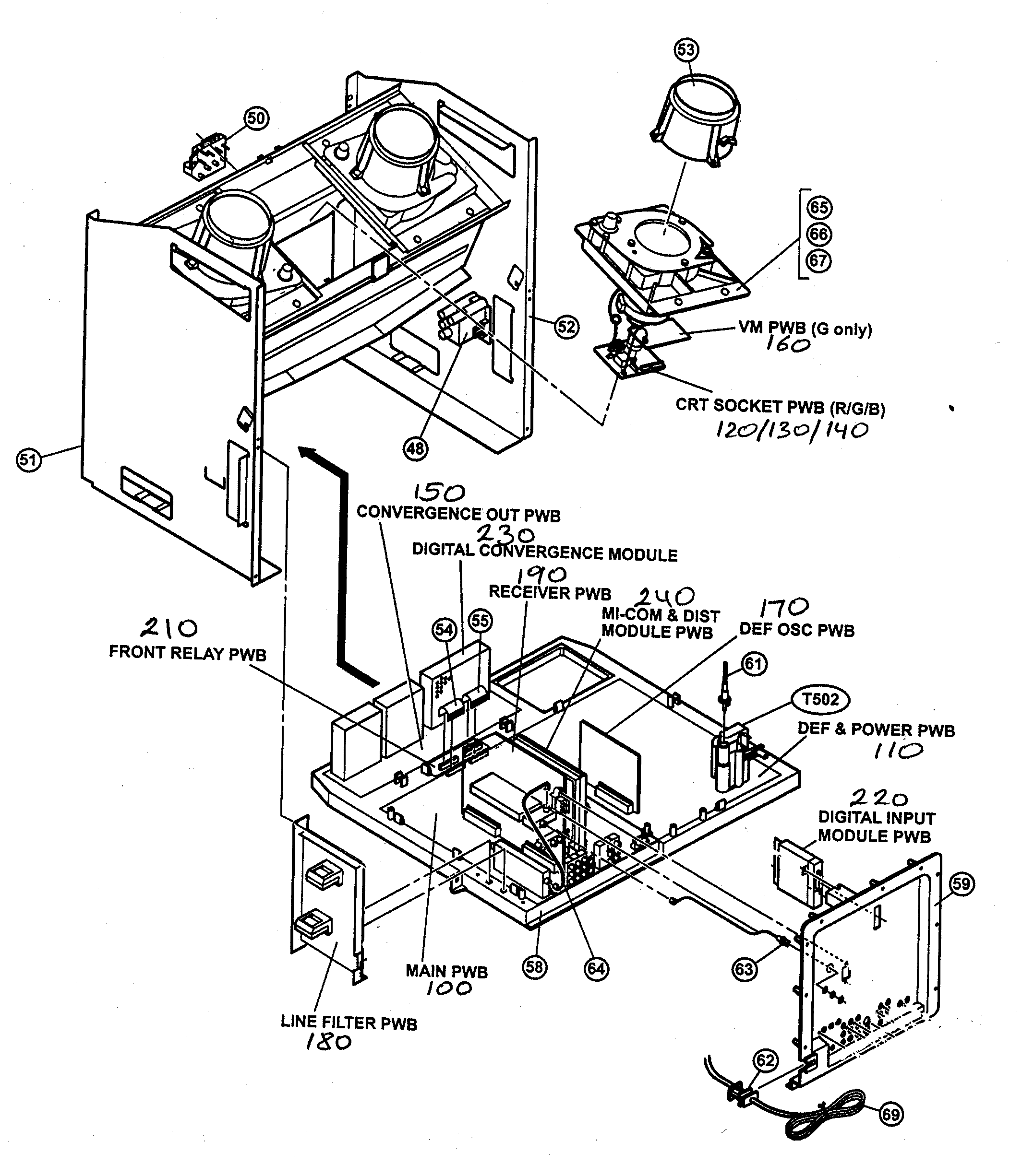 CABINET PARTS 2 Diagram & Parts List for Model AV48WP74