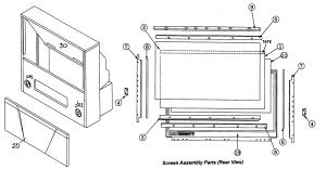 MITSUBISHI PROJECTION TV Parts | Model ws48313 | Sears