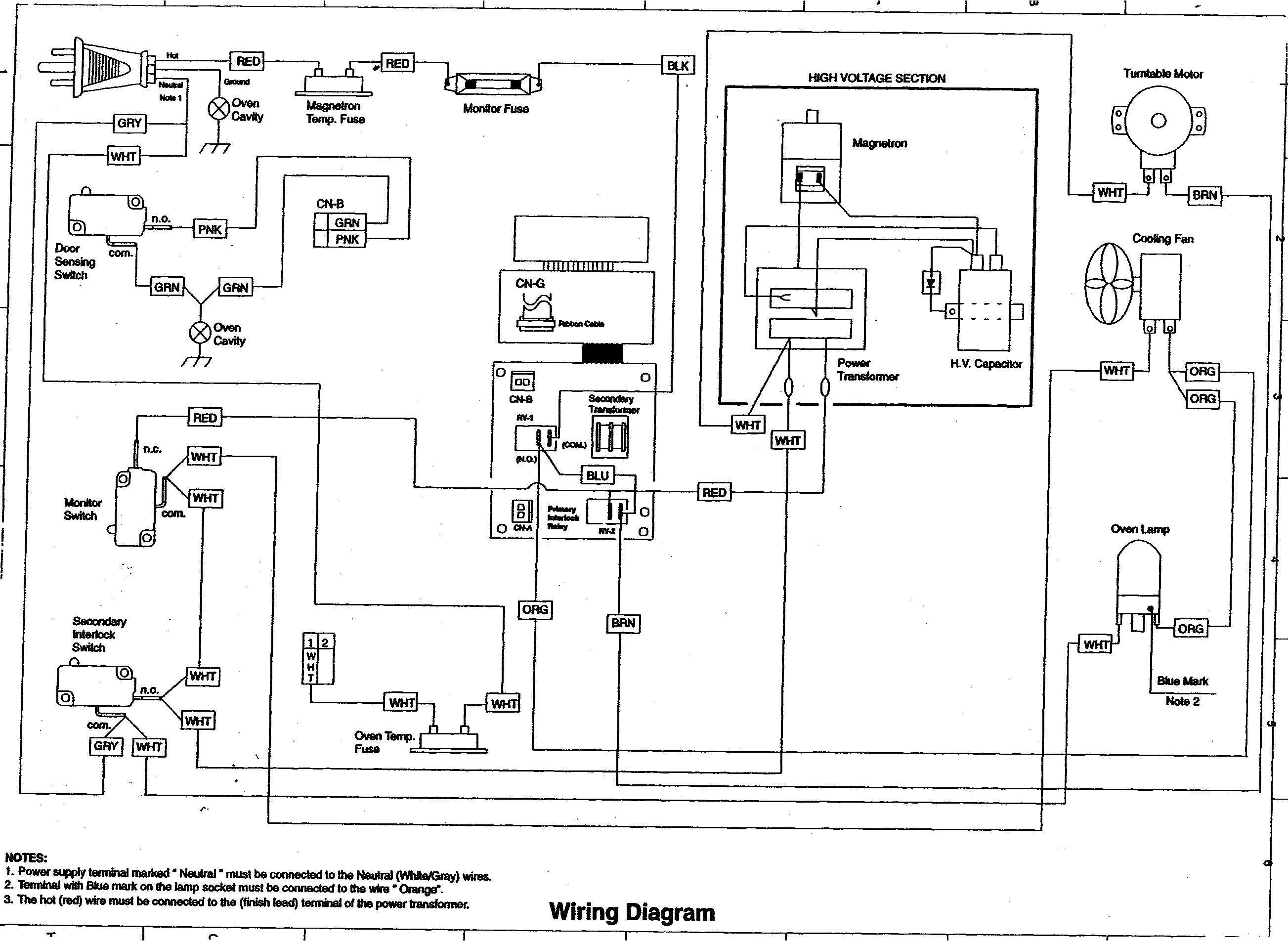 WIRING DIAGRAM Diagram & Parts List for Model R409CK Sharp