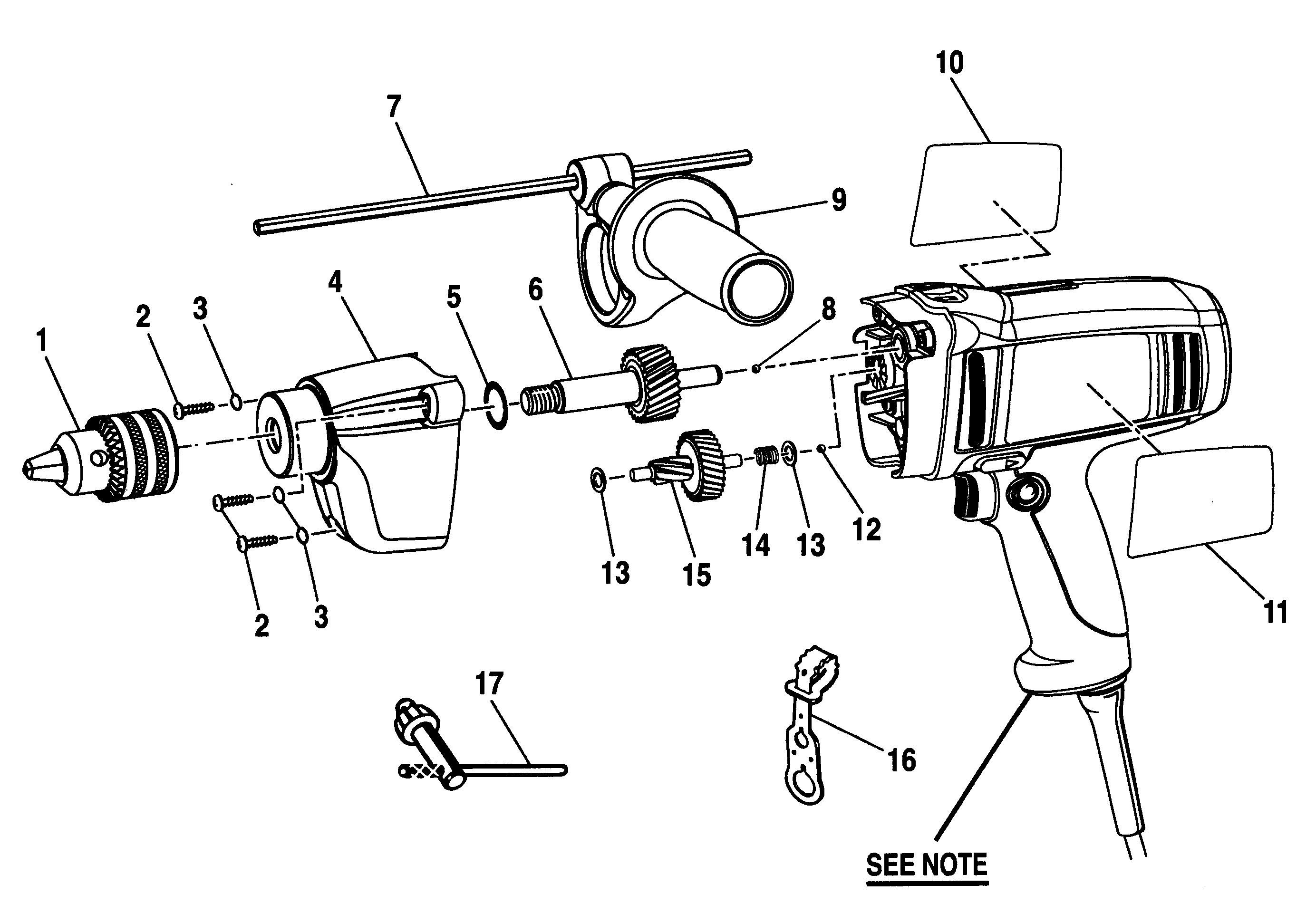 DRILL Diagram & Parts List for Model 315101360 Craftsman