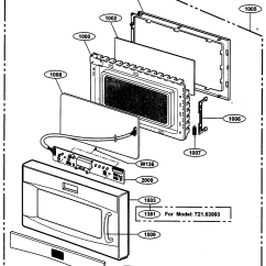 Lg Microwave Oven Circuit Diagram Labeled Computer Motherboard Kenmore Parts Model 72163993300 Sears