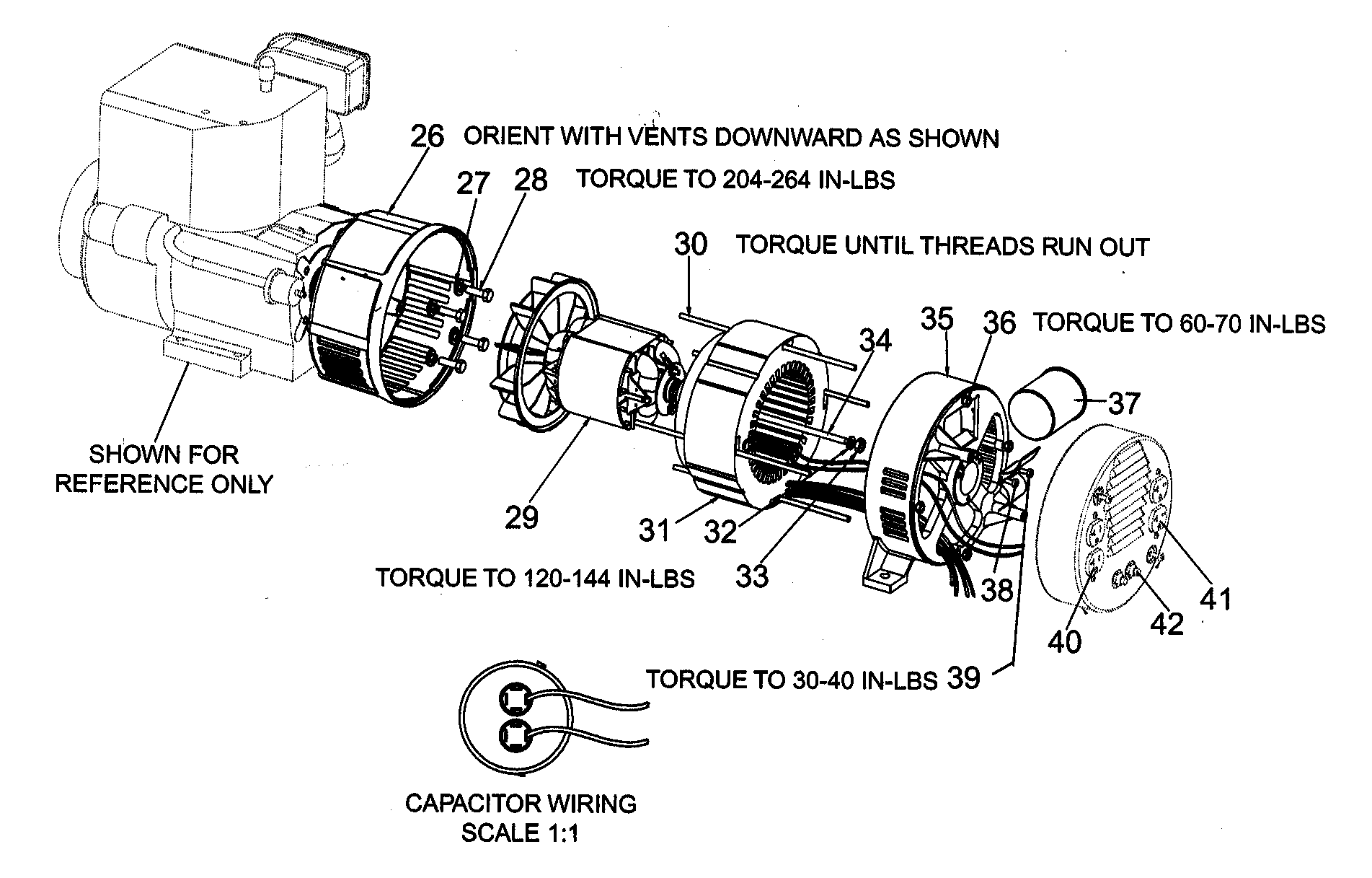 ENGINE/MOTOR Diagram & Parts List for Model gb50004