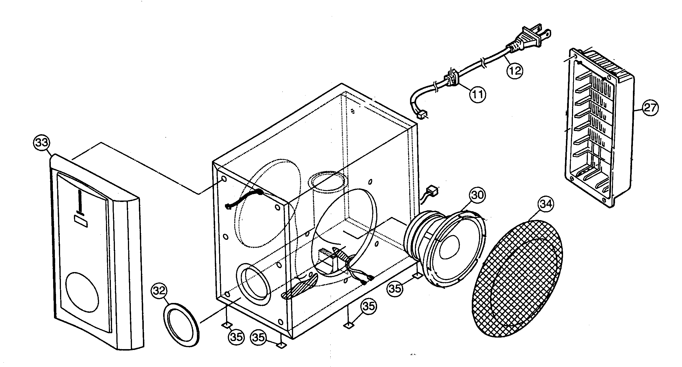 parts of a speaker diagram ford tractor starter solenoid wiring jvc model sp pwm65 searspartsdirect