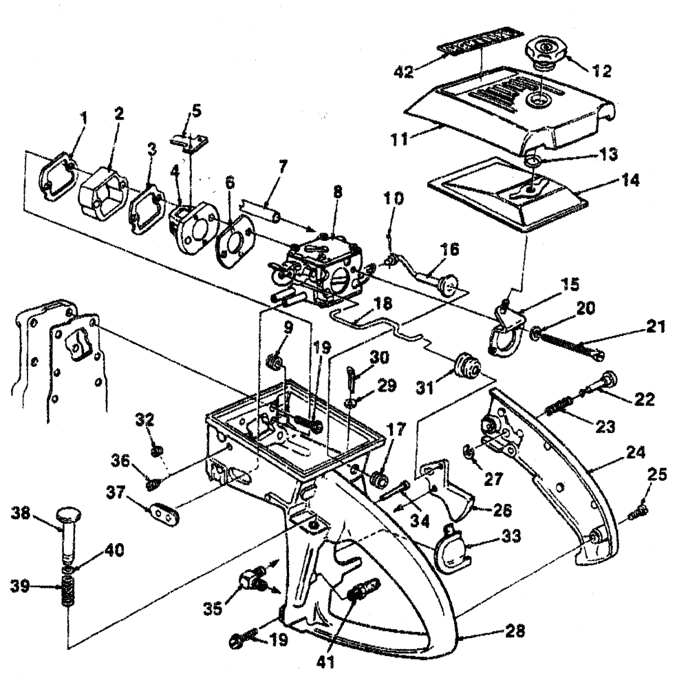 medium resolution of homelite ut10045 carburetor chamber diagram