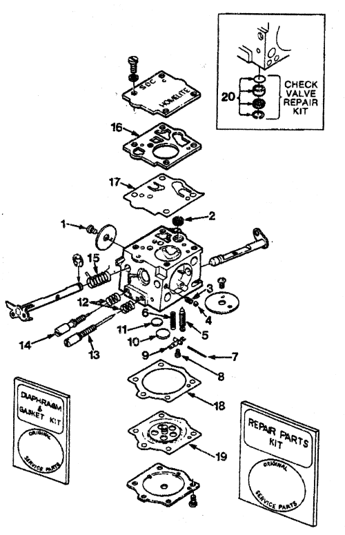 small resolution of homelite ut10045 sdc 62 carburetor diagram