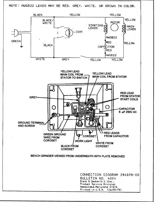 small resolution of wiring diagram for grinder wiring diagram toolbox 8 bench grinder wiring diagram