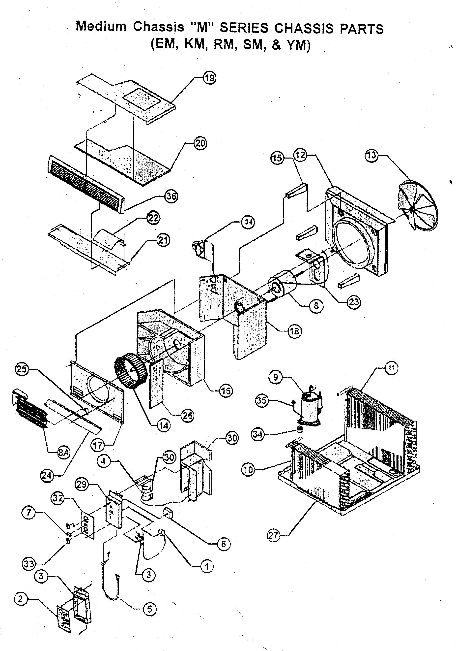 CHASSIS PARTS Diagram & Parts List for Model em18j34bb