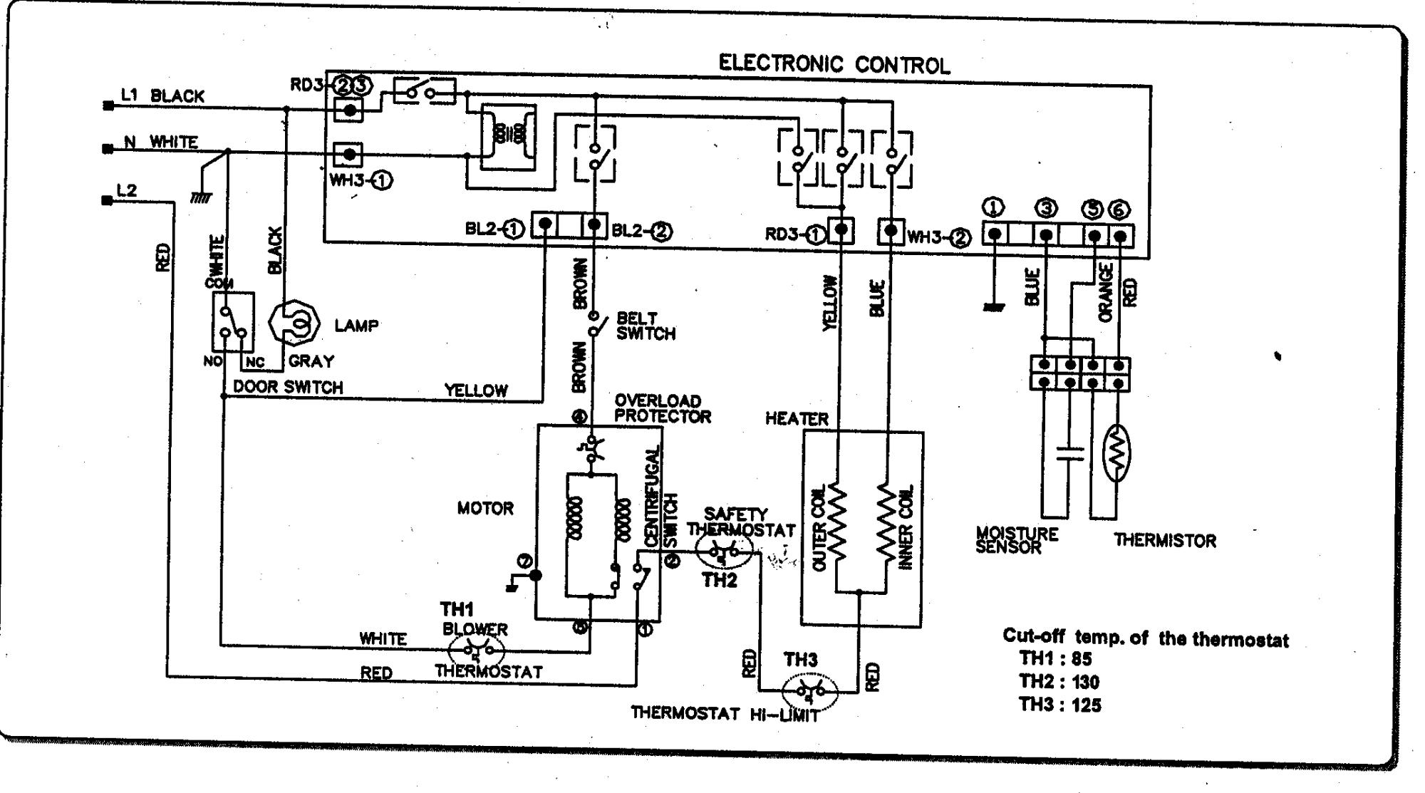hight resolution of 110 dryer wiring diagram