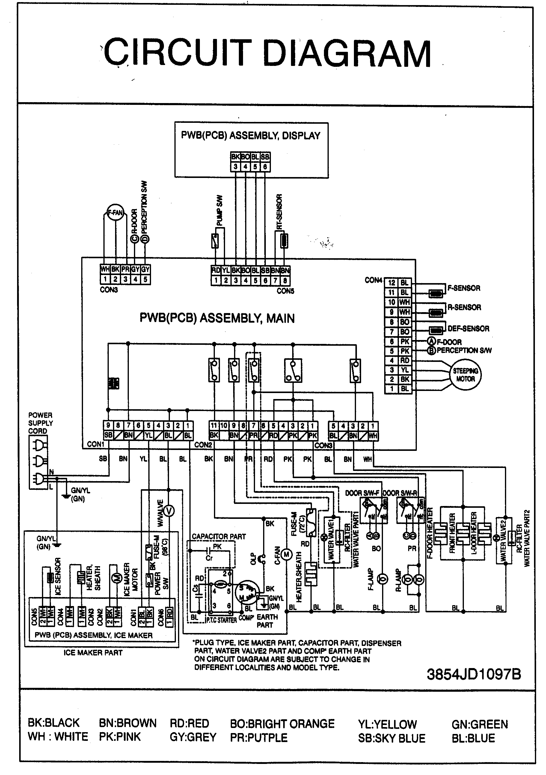 wiring diagram of refrigerator aem wideband o2 sensor kenmore elite ice maker