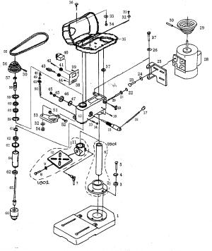 CRAFTSMAN DRILL PRESS Parts | Model 17221499 | Sears