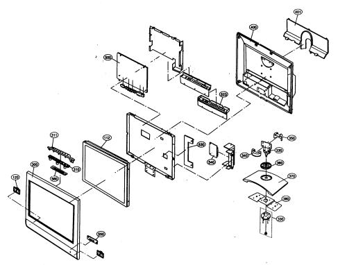 small resolution of lcd tv part diagram