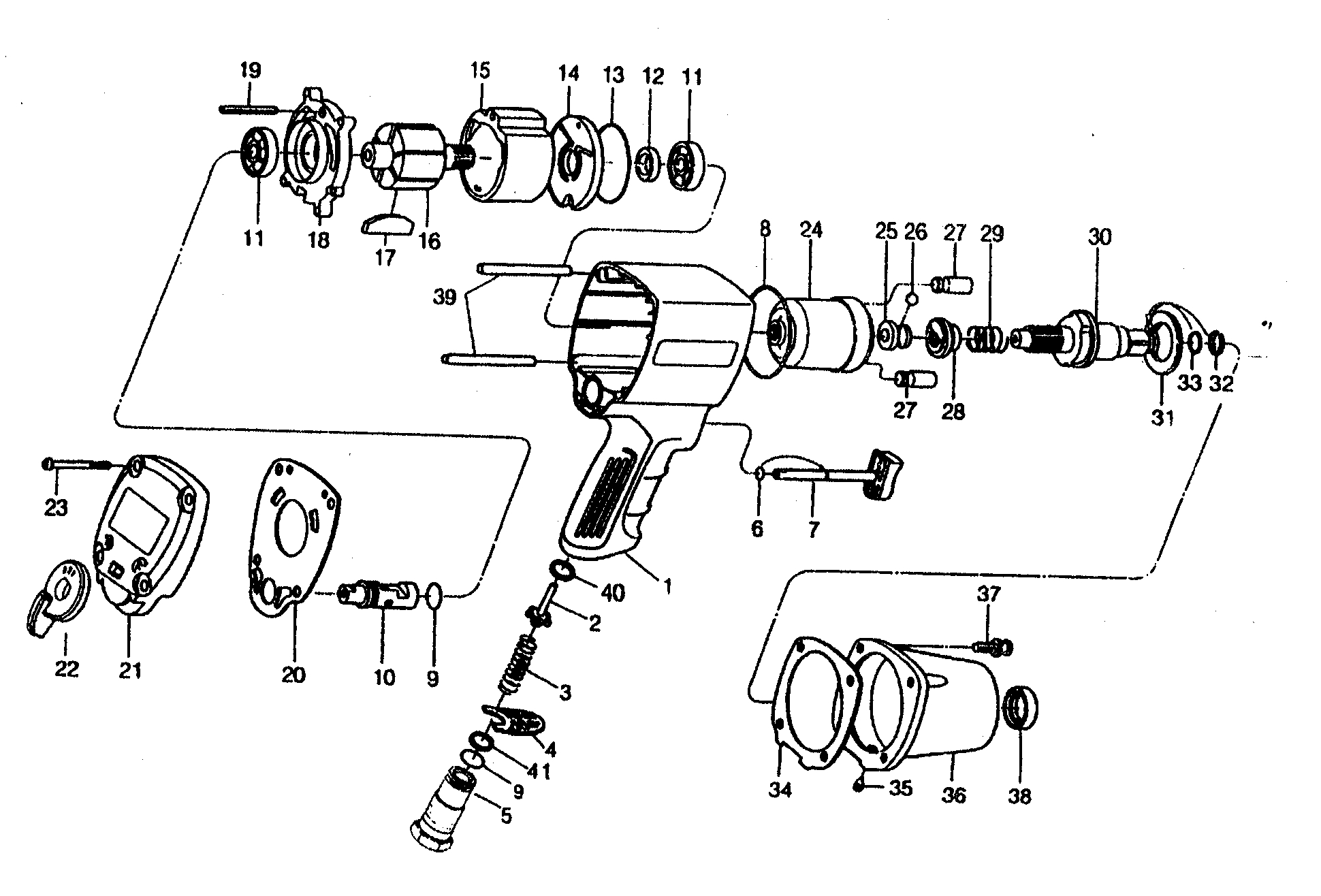 Air Tool: Ingersoll Rand Air Tool Parts Diagrams