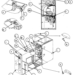 Carrier Gas Furnace Wiring Diagram Spal Electric Fan Heater Exchanger And Parts List For Model 58mvp080