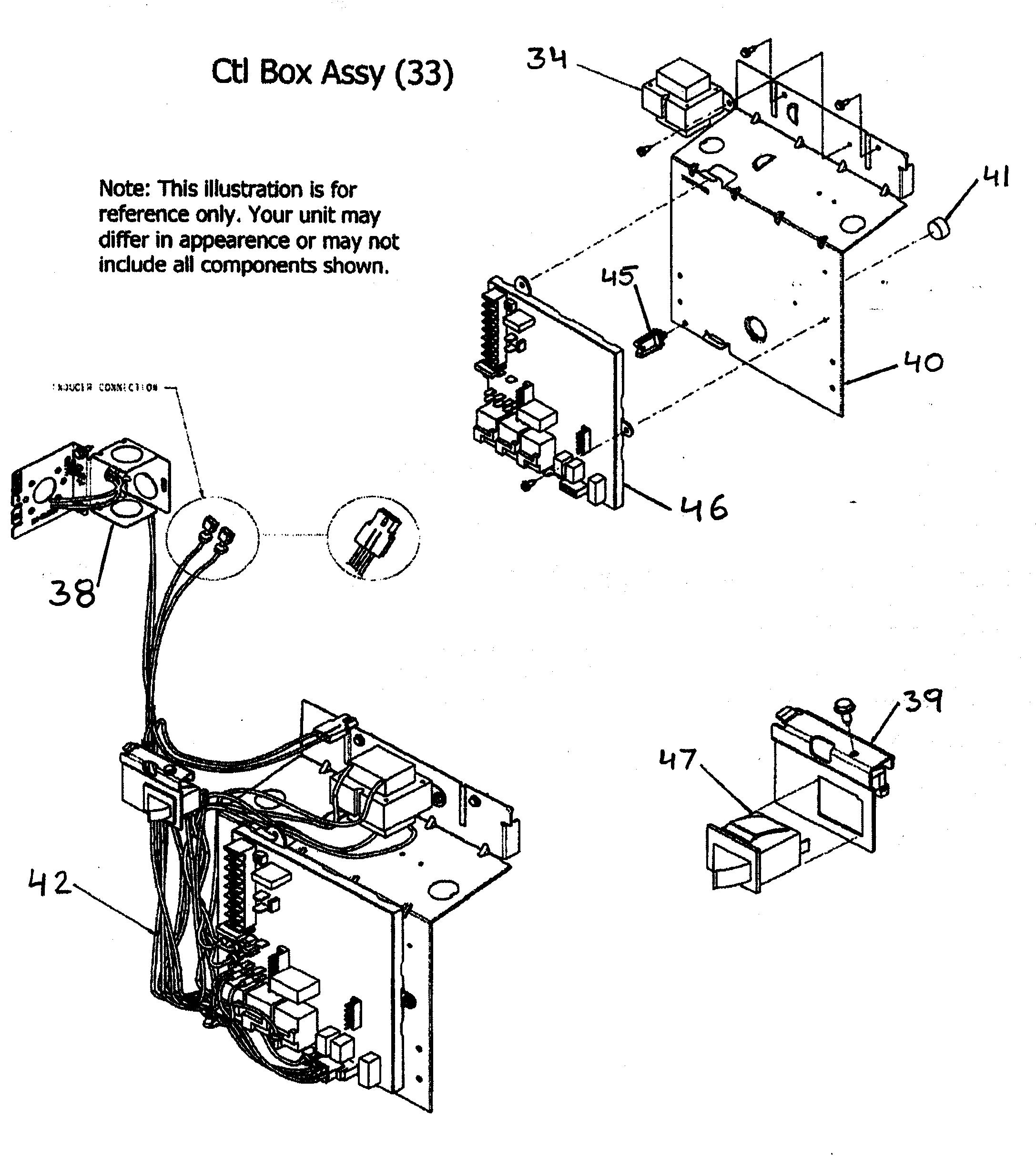 CONTROL BOX ASSY Diagram & Parts List for Model