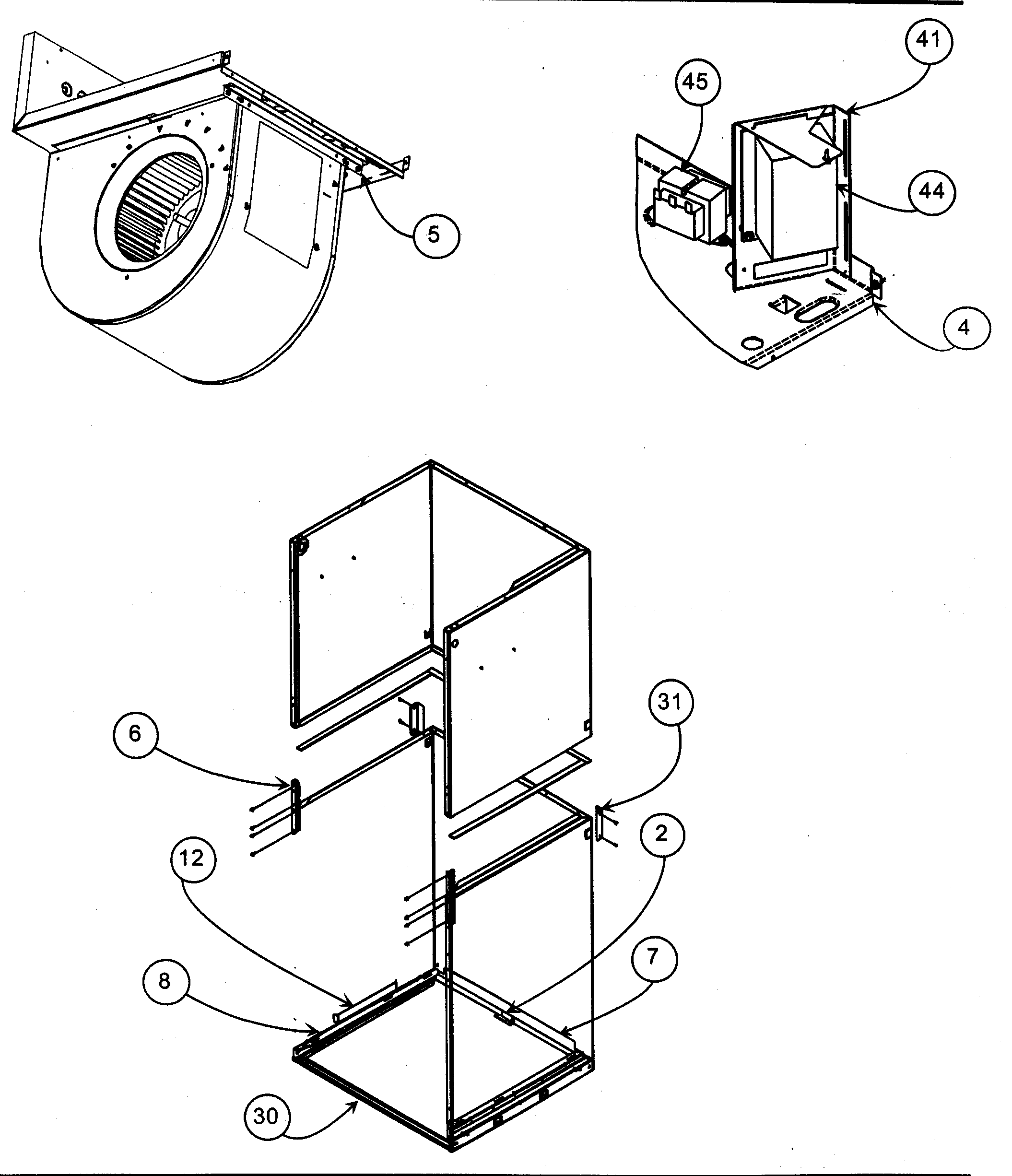 CABINET ASSY 2 Diagram & Parts List for Model