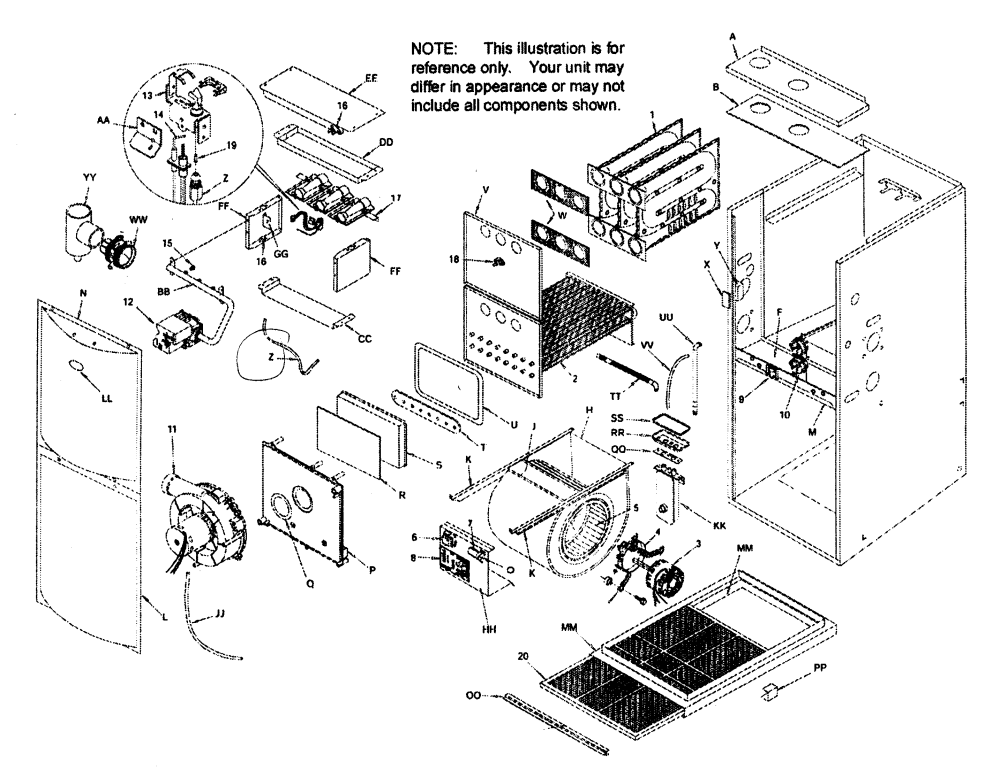 medium resolution of pictures of bryant furnace parts diagram