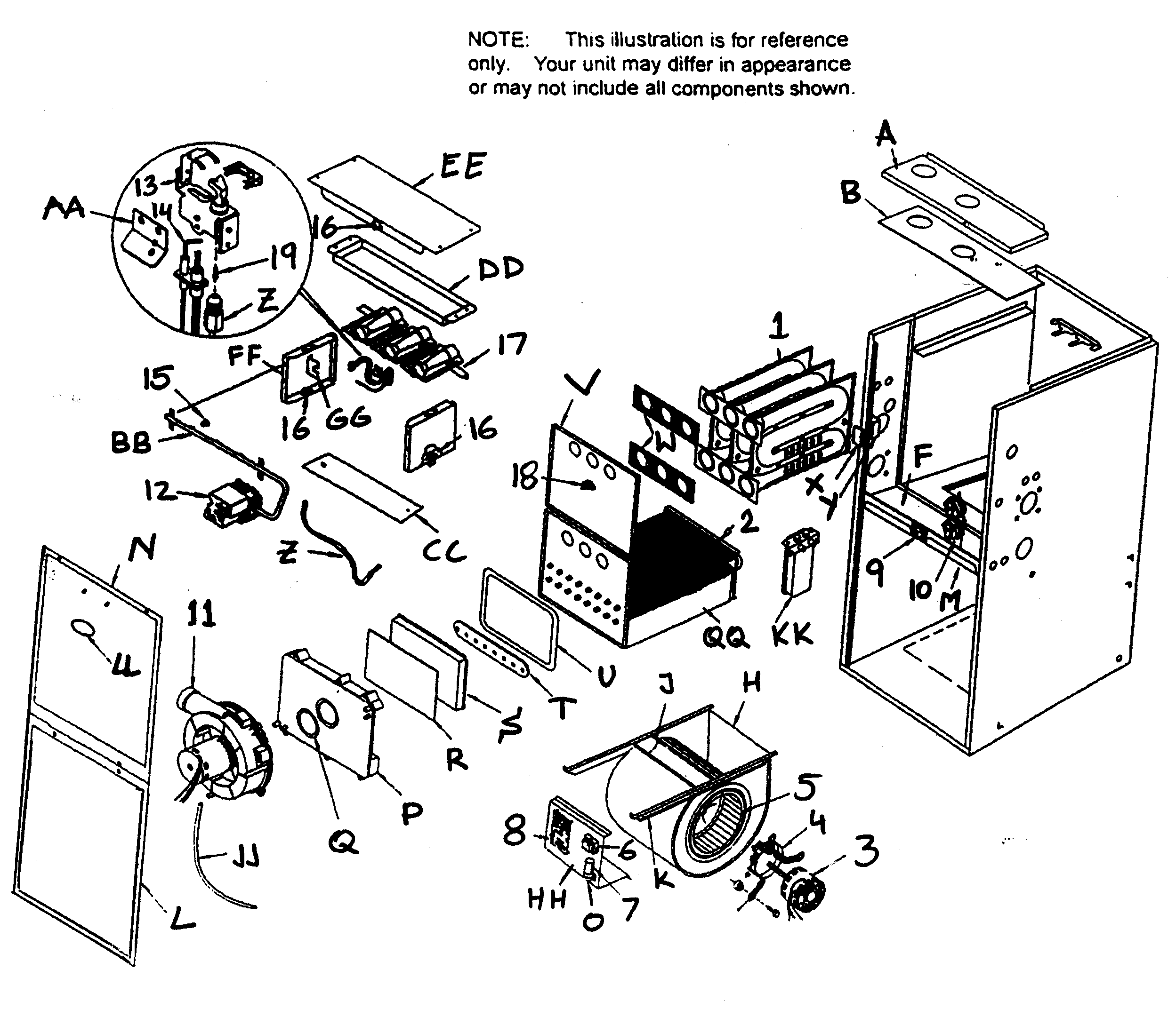 Coleman Furnace Part Diagram