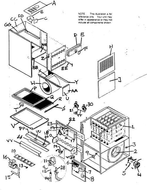 small resolution of diagram home 702110702 bambuzo heil gas furnace parts diagram heil