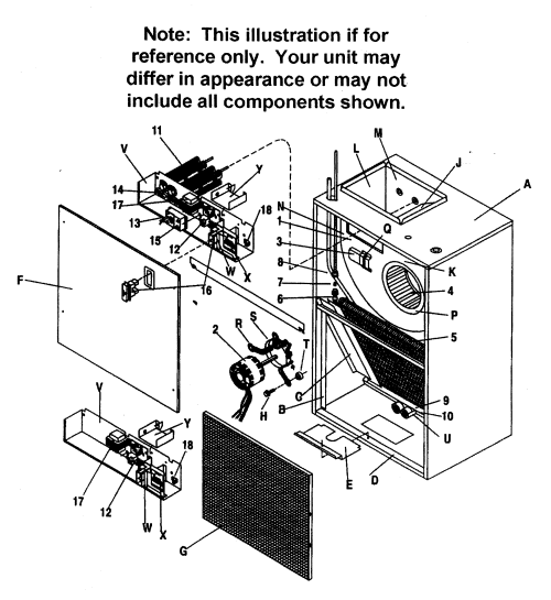 small resolution of goodman air handler part diagram