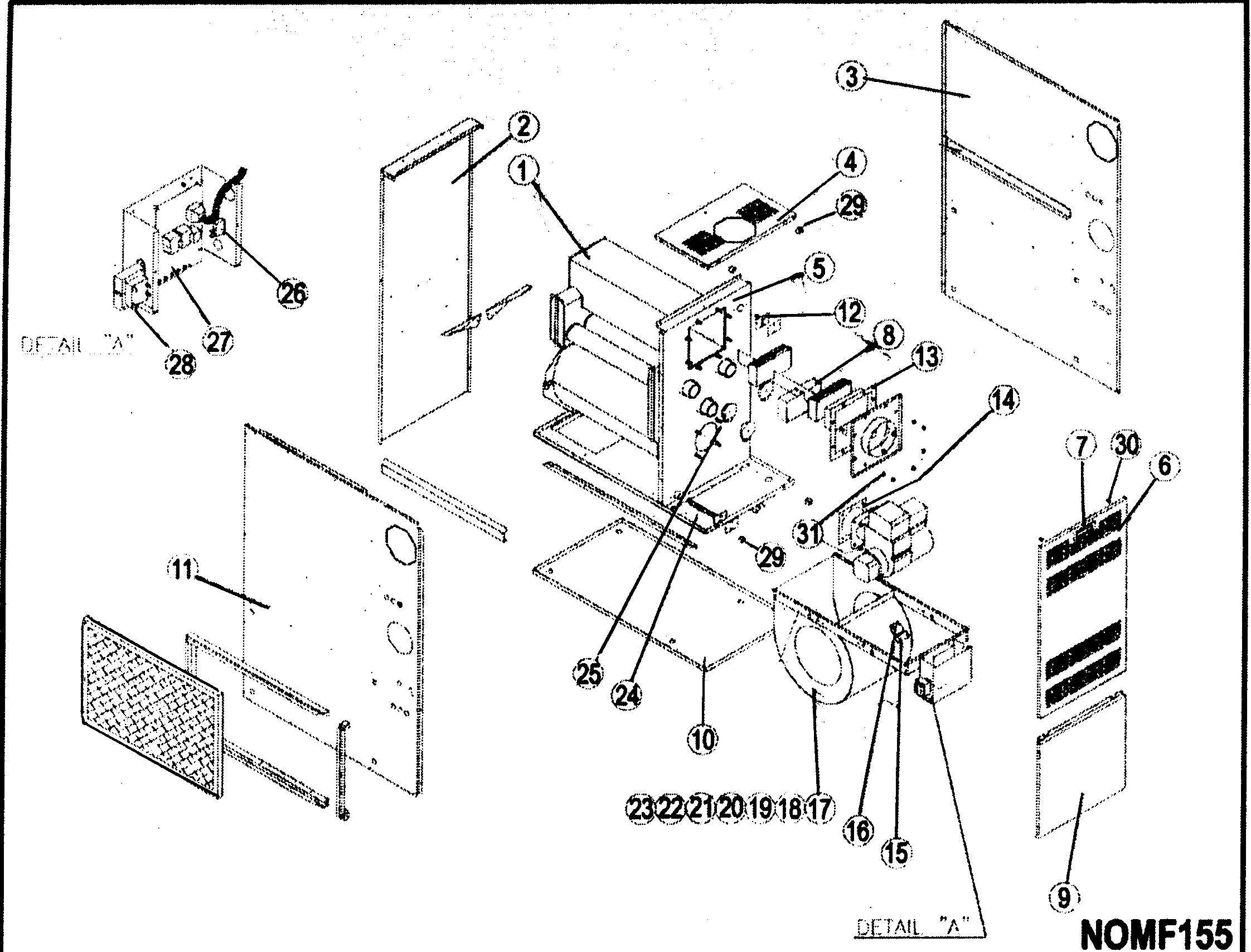 oil furnace parts diagram 2012 ford fusion fuse icp model nomf155e19a sears partsdirect